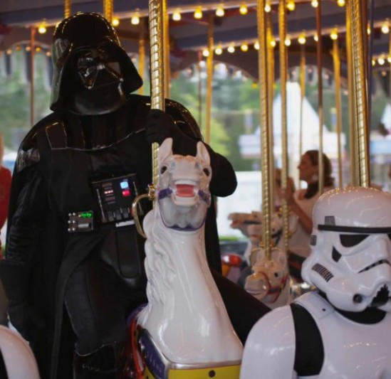 Star Wars Vader Riding Merry Go Round