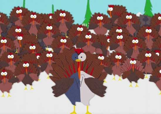 South Park Turkeys Braveheart