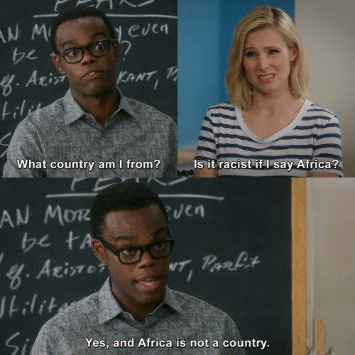 Good Place Racism