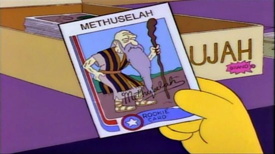 Simpsons Methuselah Rookie Card